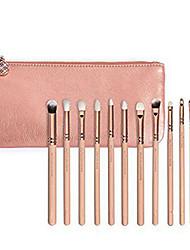 12 Sistemas de cepillo Cepillo para Colorete Pincel para Sombra de Ojos Pincel para Labios Pincel Delineador Contour Brush Pelo Sintético