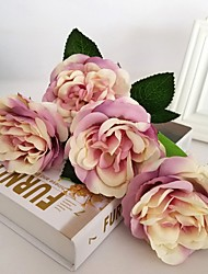 5 Филиал Шелк Розы Искусственные Цветы 30