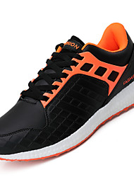 Men Sneakers Spring Summer Fall Light Soles Rubber Outdoor Athletic Black Black/Red Orange Tennis