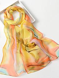 Mignon Soirée Décontracté Mousseline de soie Femme Écharpe,Imprimé Rectangle,Noir Vert Bleu Rose Violet Orange
