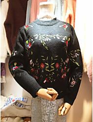 Тонгук дверь покупке нового тяжелого деликатная вышивка ретро цветок пуловер