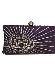 Women's  Diamonds Beaded Delicate Evening Bag Purple