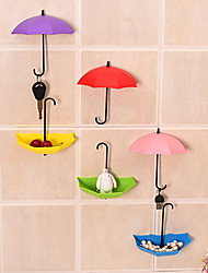 3Pcs The Umbrella Viscose From Nail Wall Hook Shape
