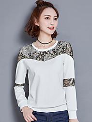 koreanische Version von Frühjahr 2017 große Frauen&# 39; s Baumwollkleidung Fett weibliche Träger mitfühlend lose langärmliges T-Shirt