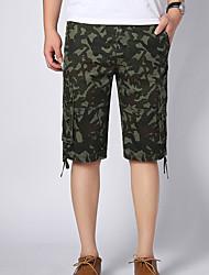 Hommes Grandes Tailles Droite Mince Chino Short Pantalon,Vintage simple Actif Décontracté / Quotidien Plage Sportif Couleur PleineTaille