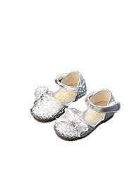 Baby Flats Summer First Walkers Leatherette Outdoor Casual Low Heel Magic Tape Silver Pink Walking