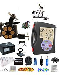 Kit de tatouage complet1 x Machine à tatouer en acier pour le traçage et l'ombrage 1 machine de tatouage x alliage pour la doublure et