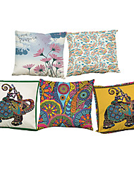 Set of 5 national style  pattern  Linen Pillow Case Bedroom Euro Pillow Covers 18x18 inches  Cushion cover