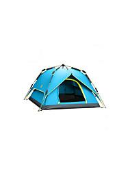 3-4 человека Световой тент Двойная Семейные палатки Однокомнатная Палатка ПолиэстерВодонепроницаемый Воздухопроницаемость