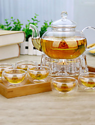 8 piece suit Atmospheric Family Entertainment Glass Tea set Teapot