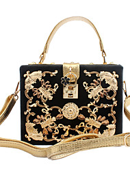 L.WEST Women's Elegant High-end Hard Box Of Small Package Evening Bag