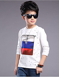 Boy Casual/Daily Solid Shirt,Cotton Rayon Summer Spring Long Sleeve