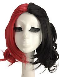 самоубийства длина команды mdiuem волнистый черный красный смешанный костюм косплей парик