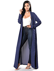 Casual/Daily Beach Holiday Simple Cloak/Capes,Solid Cowl Long Sleeve Summer Fall Machine wash Polyester Long