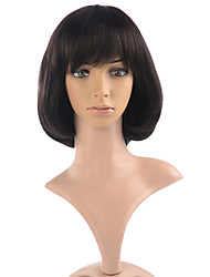 Synthetic Wig Short Black Women Wig Capless Cosplay Costume Wig Hairstyle