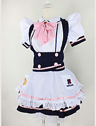 Cosplay Costumes Maid Costumes Festival/Holiday Halloween Costumes White Solid Carnival Female Uniform Cloth