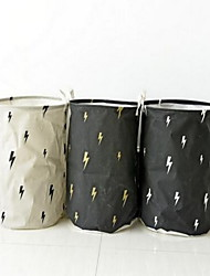 Storage Bags Storage Baskets Water Proof Inner LayerFor Underwear Cloth Multi-functional Cotton And Linen Storage Barrels Random Color