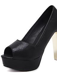 Saltos-Sapatos clube-Salto Grosso-Preto Prateado-Microfibra-Social