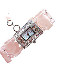 Fashion Watch Quartz Jade Band Pink