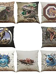 Set of 8 3D effects pattern Linen Pillowcase Sofa Home Decor Cushion Cover