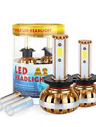 2017 nouveau d2 d4 puce kit phare 60w 6400lm conduit cob 6000K 8000K ampoules de lampes paire lumière