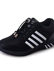 Femme Chaussures d'Athlétisme Confort Polyuréthane Printemps Eté Décontracté Habillé Marche Confort Talon Plat Blanc Noir Arc-en-ciel Plat