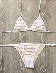 Bikinis Aux femmes Fleur Licou Polyester