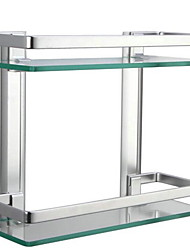Double-deck Bathroom Shelf / AnodizingGlass Aluminum /Contemporary
