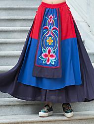 8235 Zeichen # Tau mantingfang ursprünglichen Wind nationalen Design-Frauen neue Nähte Stickerei halblangen Rock
