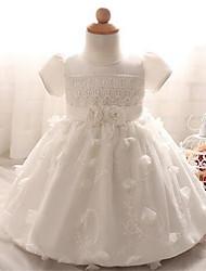 Girl's Floral Dress,Polyester Summer Short Sleeve