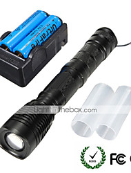 UKing ZQ-X912#-EU Cree XM-L T6 2000LM 5Modes LED Flashlight Torch Kit with Batteries and Charger