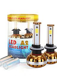 2017 nouveau 880 881 60w 6400lm Ampoules LED puce cob kit de phare de 6000K 8000K lampes de lumière paire