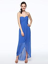 2017 Lanting Bride® Asymmetrical Chiffon Elegant Bridesmaid Dress - A-line Sweetheart with Pleats