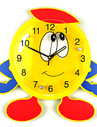 Modern/Contemporary Houses Cartoon Duck Wall ClockNovelty Glass Metal Wood 32*32 Indoor Clock
