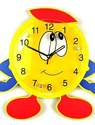 Moderne/Contemporain Niches Horloge murale,Nouveauté Verre Métal Bois 32*32 Intérieur Horloge