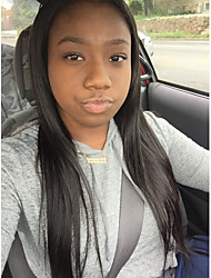 Malaysian Virgin Full Lace Human Hair Wigs Glueless Lace Front Wig Natural Black Straight Wigs for Black Women Free Part