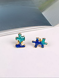 Stud Earrings Jewelry Galaxy Acrylic Resin Alloy Jewelry For Daily Casual