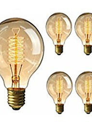 5pcs g95 antiguos de época retro bombillas de Edison E27 bombillas incandescentes de 40w decorativa lámpara de filamento 220-240V luz
