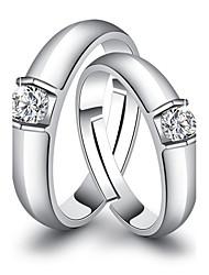 Ringe Hochzeit Party Besondere Anlässe Alltag Normal Schmuck Kupfer Eheringe 2 Stück,Eine Größe Weiß