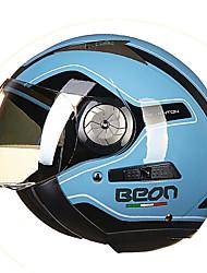 beon b-216 moto casque demi rétro casque lièvre uv-400 à double lentille anti-buée anti-uv sécurité casque mode unisexe