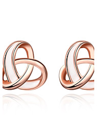 Non Stone Stud Earrings Jewelry Daily Casual Alloy Rose Gold Plated 1pc Rose Gold