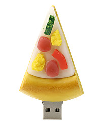 disco flash drive de borracha USB 2.0 16GB de pizza