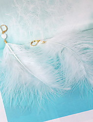 Earrings Set Feather Shell Heart Feather White Jewelry Daily Casual 1 pair