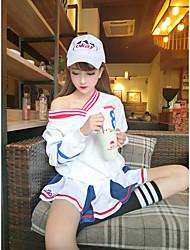 unterzeichnen koreanische Art und Weise Freizeit wilden College Wind mit V-Ausschnitt Kaschmir-Pullover Digitaldruck T-Shirts