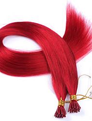 peruano de melhor qualidade i ponta extensões de cabelo 1g / fio vermelho i ponta extensões de cabelo humano 100strand / lot aceitar