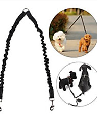 Dog Leash Adjustable/Retractable Safety Solid Red Black Blue Nylon Rubber