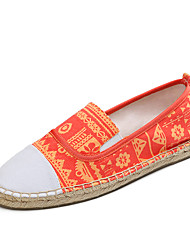 New Color Casual Alpargata Linen Moccasin Printing Comfortable Printing Women Fashion Lazy Soft Flat Walking Shoes EU35-40