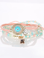 The European And American Fashion New Bracelet Retro Eyes Tower Multilayer Beaded Bracelet