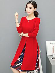 Реальная съемка женского платья 2017 весной и осенью длинная секция корейской версии была тонкой печатной юбкой шифона, дном платья