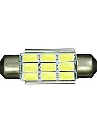 10x Festoon 36mm 9 5730 WHITE Car Interior LED No-polar 12V Dome Map Light Bulb 12V